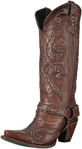 Lane Boots Damen Boot (Distressed Brown) Stud Royale Stiefel, Used-Look, Braun, 42 EU