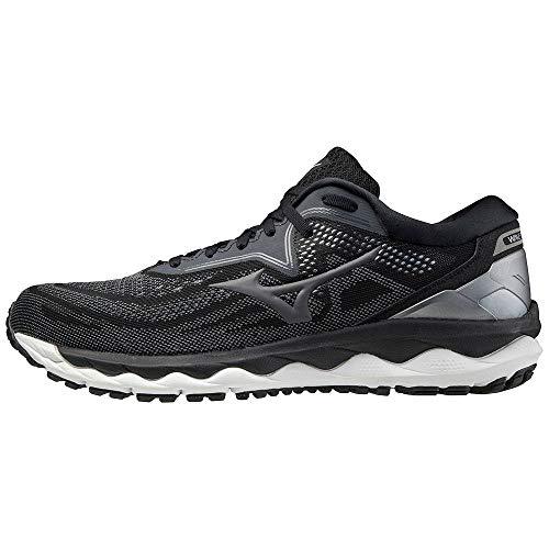 Mizuno Wave Sky 4, Zapatillas de Running Hombre, Black/Castlerock/CSilver, 44.5 EU