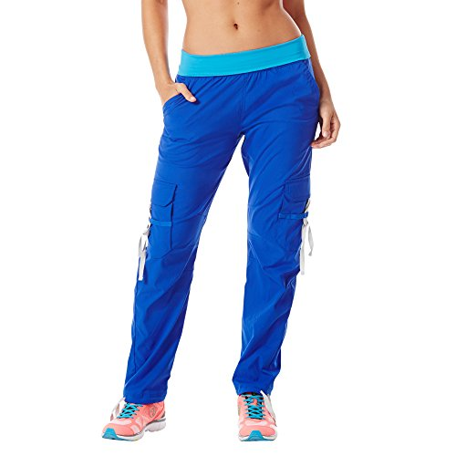 Zumba Women's Craveworthy Cargo Pants (XS, Surfs up Blue)