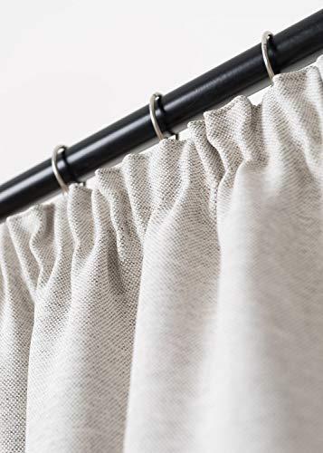 Rollmayer Vorhang mit Bleistift MELO (C2 Milchkaffee, 140x240 BxH). Blickdicht Gardinen für Schlafzimmer, Kinderzimmer, Wohnzimmer