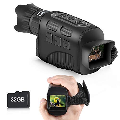"""Taotuo Infrarot Nachtsicht-Monokular, IR Nachtsichtgerä für Jagd mit 1.5\"""" TFT LCD, Nachtsichtfernrohr 960P Video von 200mReichweite 4X Digitalzoom Digitales Nachtsichtgerät mit 32G Karte"""
