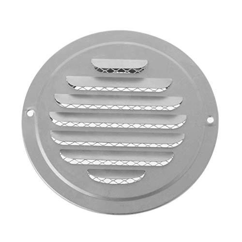 zheilou-ventilación del capó Exterior de acero inoxidable aire de la pared Vent Grille, Ronda conductos de ventilación Rejillas, el 70/80/100/120/150/160/180/200 mm Fácil de instalar ( Color : 80mm )