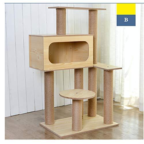 FYPmza kratzbaum Katzen-Abfallkatzebaumkatze der großen Katze kletternde Rahmen, die mehrschichtige hölzerne Katzenversorgungen der Katzenspielzeugkatze der Katze verkratzt katzenbaum (Ausgabe : B)