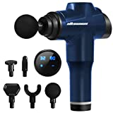 Massage Gun Deep Tissue Percussion Massager for Athletes-5 Heads 32 Speeds, Portable Back Shoulder Body Muscle Massager Gun for Pain Relief, Handheld Massagers for Home Office Gym(Blue)