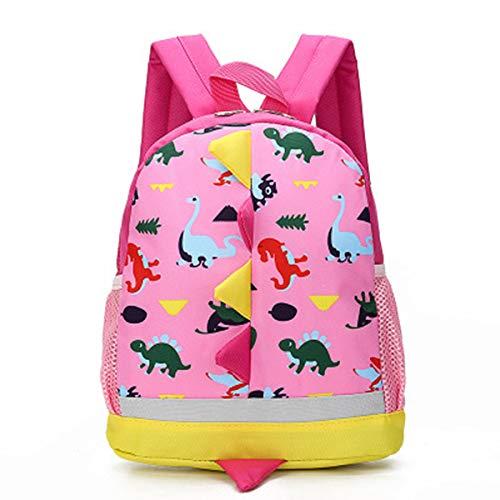Vohoney Kinderrucksäcke Kindertasche Kindergarten Rucksack Cartoon Dinosaurier Backpack für Mädchen Jungen(Rosa Kinderrucksäcke)