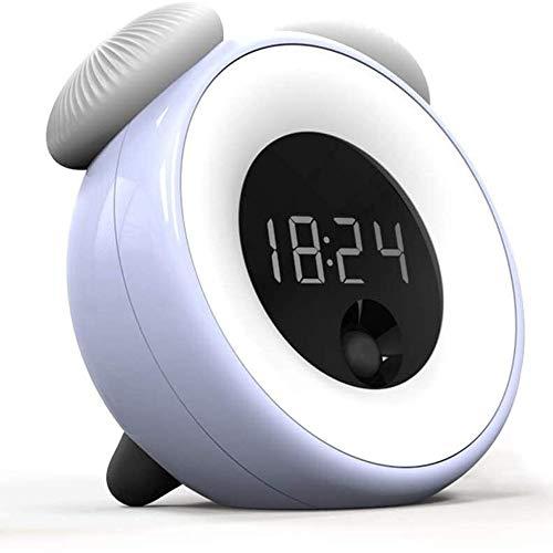 Liangsujiantd Flexo Led Escritorio, Timing lámpara de Mesa, Reloj Despertador, Vibración/Touch Dimmer Mesita de luz de la lámpara, Reconocimiento Inteligente automático del Cuerpo Humano, el reconoc