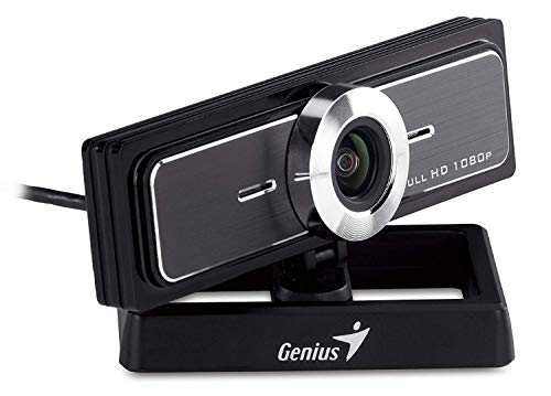 Genius WideCam F100 - Webcam (12 MP, 1920 x 1080 Pixeles, 30 fps, USB 2.0, Negro, CMOS)