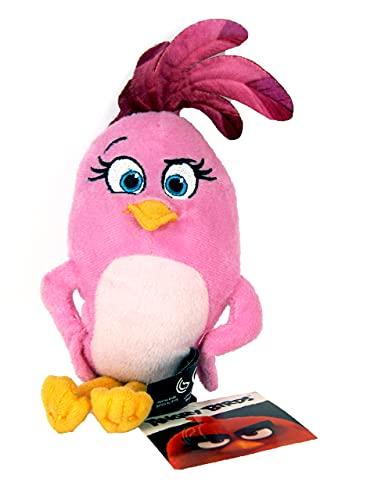 Rovio Angry Birds Stella - Peluche de Angry Birds (con colgante, clip, 22 cm, para mochila, mochila escolar)