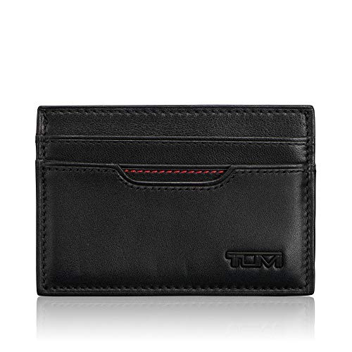 TUMI - Delta Slim Card Case Wallet with RFID ID Lock for Men - Black