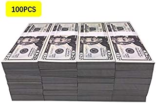 Motion Picture Money Prop Money Full Print 2 Sided Dollar Bills Realistic Money Stacks,Copy Money Play Money That Looks Real for Movie,Videos, Birthday Party
