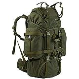 Wisport großer Backpacker Rucksack 55L Damen Herren + inkl. E-Book   Jägerrucksack   Jagdrucksack   Traveller Backpack robust   Wanderrucksack   Reindeer Hunt Olivgrün