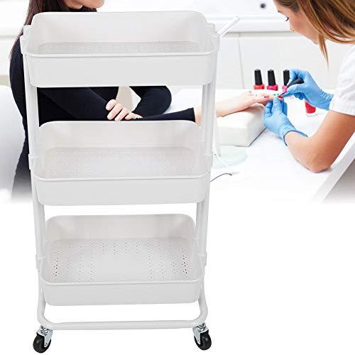 Carro de manicura de tres capas multifuncional para uso doméstico para salón de belleza y uso en salón de uñas