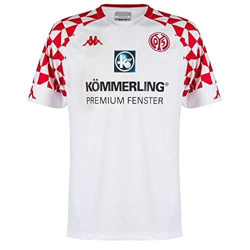 Kappa Herren Mainz05 Auswärtstrikot Trikot, Bright White, M