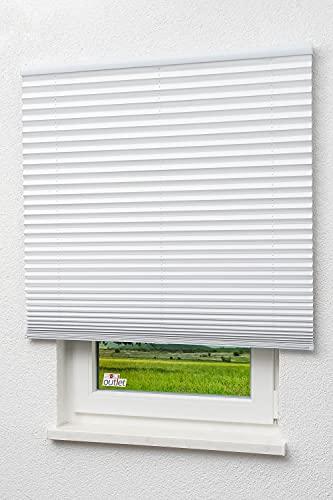 LYSEL Outlet - Plissee Thermo freihängend Reinweiß - Plissee in der Größe (Bx H) 120cm * 160cm