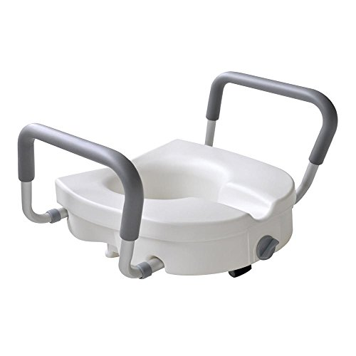 Glacier Bay 10000428 White Toilet Seat Safet Universal Elevated 4inch Height