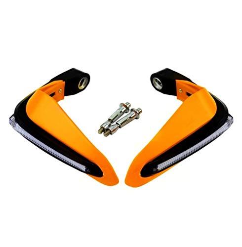 LuckyMAO Funda y molduras para motocicleta, protectores de manos con LED, ajuste para Benelli 502c Leoncino Trk 502x Trk 502 Accesorios Trk502 600 Bn302 Tnt 125 (color naranja)