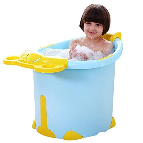 Badinstallation Badewanne Aufblasbare Badewanne Haushaltsbadewanne Klappbadewanne Tragbare Babybadewanne Große Kinderbadewanne Stereo Badewanne (Color : Blue, Size : 74 * 55 * 52cm)