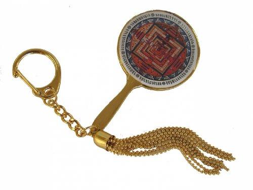 La Kalachakra Mandala espejo llavero