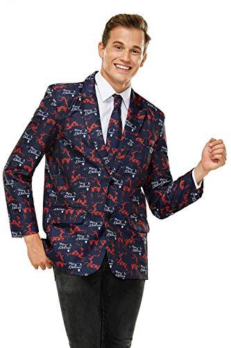 U LOOK UGLY TODAY - Chaqueta de traje con diseño navideño para hombre -  Multi color -  X-Small