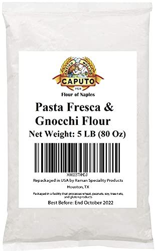 00 Antimo Caputo Pasta & Gnocchi Flour 5 Lb Bulk - Italian Double Zero Grain Type - Extracted Wheat Blend - All Natural for Pasta Fresca Dough