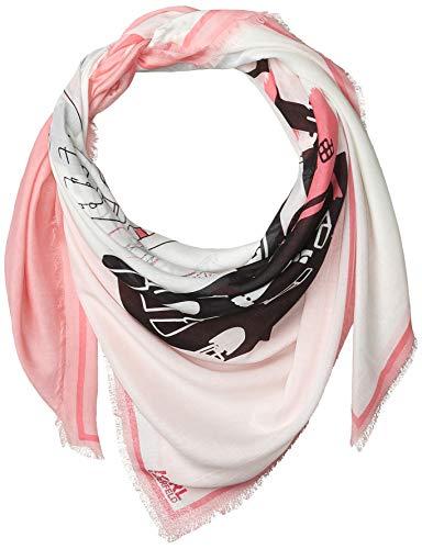 Karl Lagerfeld Paris Damen City Sight Modal and Silk Square Scarf Schal für kaltes Wetter, hot pink, Einheitsgröße