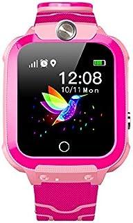 XIEJ Montre Intelligente pour Enfants, avec Appel GPS Tracker SOS, Montre étanche IP67 pour Filles et garçons, Appel bidir...