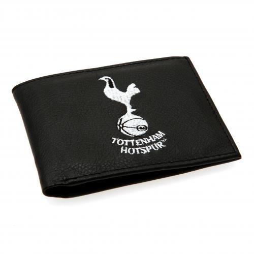 Tottenham Hotspur F.C. Portefeuille en similicuir brodé 7000–wallet- crest- slots- cartes : environ 11 cm x 9 cm-en-tête SD- un produit officiel
