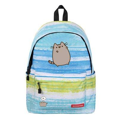 QWKZH School Tassen Cartoon Vet Kat Rugzak eenhoorn schattige mooie Kaas kat Galaxy School Tassen Reistas Sterren Universum Ruimte afdrukken