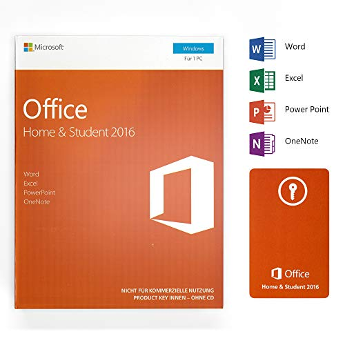 Office 2016 Home and Student Deutsch - 1 PC - 1 Lizenz - Box - Word Excel PowerPoint OneNote - Office Home und Student 2016 für Windows 7 / 8 / 8.1 / 10