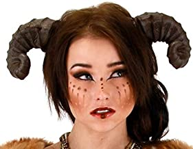 Brown Dragon Satyr Costume Horns Headband For Adults -elope