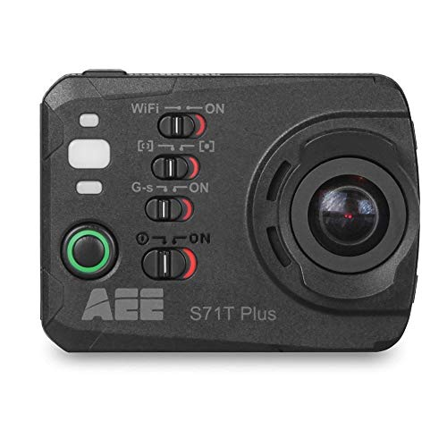 AEE Technology S71T Plus 4K 1080P 16MP HD LCD Touchscreen 120FPS Slow-Mo Action Camera 100M IP68 Waterproof Case (Black) (Renewed)