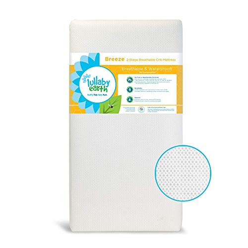 Lullaby Earth Breeze 2-Stage Breathable Crib Mattress -...