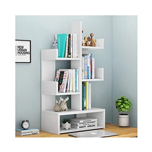 XIAOQIU Estantería para Libros Multilayer Office Desktop Bookshelf Wood Ajustable Mostrador Estante Estante Organizador Almacenamiento Estante Freestanding Encimera Librería Estante de Escritorio