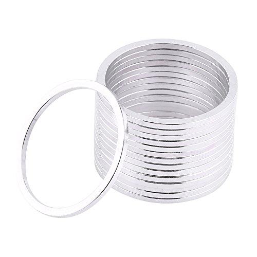 Fietskoptelefoon sluitring aluminiumlegering vliegwiel naafwielnaaf afstandsschijven assen sluitringen afdichting 15 stuks