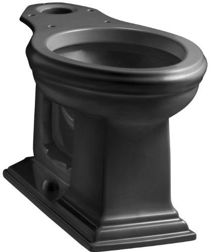 Kohler K-4380-7 Memoirs Comfort Height Elongated Bowl, Black Black