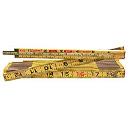 """commercial Wooden Ruler Crescent Roughkin 5/8 """"x 8"""", Red Tip and 6 """"Retractable Ruler – X48N wooden rulers cheap"""