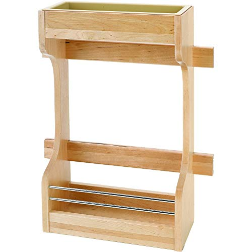 Rev-A-Shelf 4SBSU-15 Door Mount Wood Sink Base Cabinet Storage Organizer with 2-Shelf Storage for 30 Inch Sink Base, Natural Maple