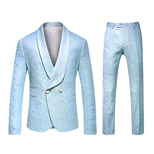 Blazer Suit Dress for Men Wedding, Blazer and Pants Mens Suit Jacket Coat Sweater Stretch Blazer Casual Men Slim Fit voor Wedding Party handel