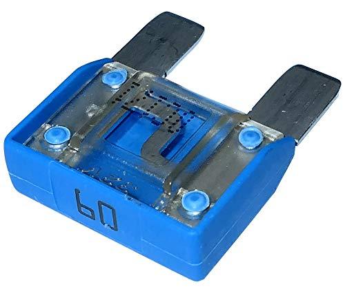AERZETIX - C10067 - Sicherung - Groß - Blau - Maxi - 60A - 6V - 12V - 24V - 32V - 29mm - für Auto - LKW - Dienstprogramm