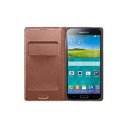 Samsung Flip Case inkl. Visitenkartenfach für Samsung Galaxy S5 - Rose/Gold
