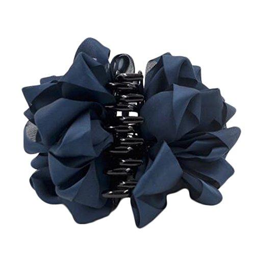 Mesdames Belle Claw Clip cheveux Décor Clips Accessoires cheveux, Bleu profond