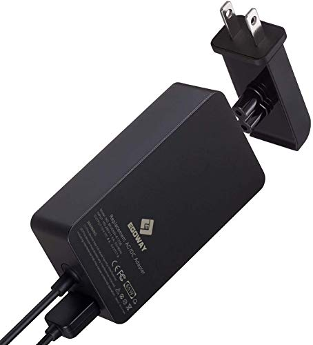 Surface Pro Charger, E EGOWAY 65W 15V 4A AC Power Supply Adapter Compatible with Surface Pro X 7 6 5 4 3 Surface Laptop 3 2 1 Surface Book Surface Go with Wall Plug and 6ft Power Cord