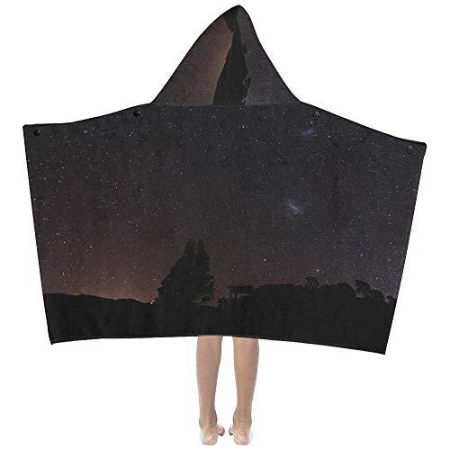 Hermosa noche Star Sky suave cálido para niños vestido con capucha ropa cama toallas baño envoltura tiro para niños pequeños niña niño tamaño viaje en casa comida campestre regalo para dormir