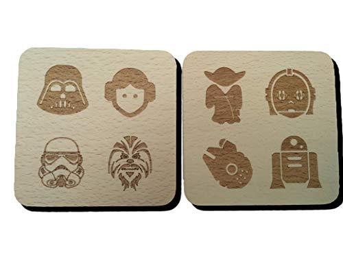 Sottobicchiere ispirato a Star Wars (2 sottobicchieri)