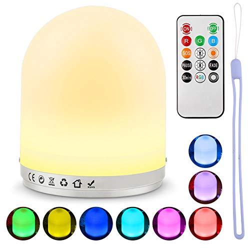LED Nachtlicht für Kinder, Nachtleuchte Baby Lampe für Schlafzimmer, Hospaop Wiederaufladbares USB Nachttischlampe mit RGB Farbwechsel, Nachtlampe für Babyzimmer, Schlafzimmer, Wohnräume, Camping