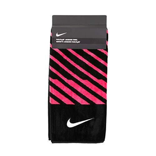 Nike Face/Club Jacquard Golf Towel, Black/White/Pink