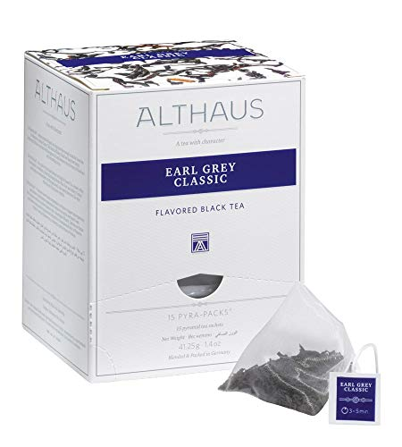 Althaus Pyra Pack Earl Grey Classic 15 x 2,75g ⋅ Schwarzer Tee im Pyramidenbeutel