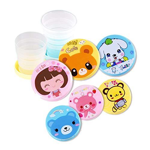 AKDSteel Faltbecher Cartoon Water Cup Travel Tragbare Außenhandtasse für Kinder,Praktisch langlebig