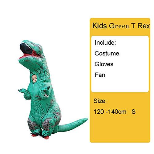 VCXZ Opblaasbaar dinosauruskostuum voor volwassenen, vrouwen, mannen, kostuum, dinosaurus, alien, Halloween, feestkostuum, carnaval, cosplay