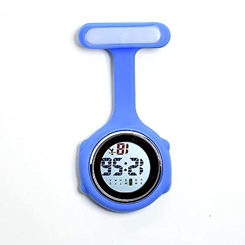LLRR Paramédico Doctores Reloj Médico,Mesa de Enfermera electrónica multifunción de Silicona, Mesa de visualización Digital-Azul,Reloj de Enfermera